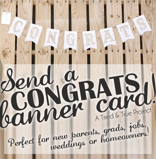 How to make a Congrats banner you can send in the mail!