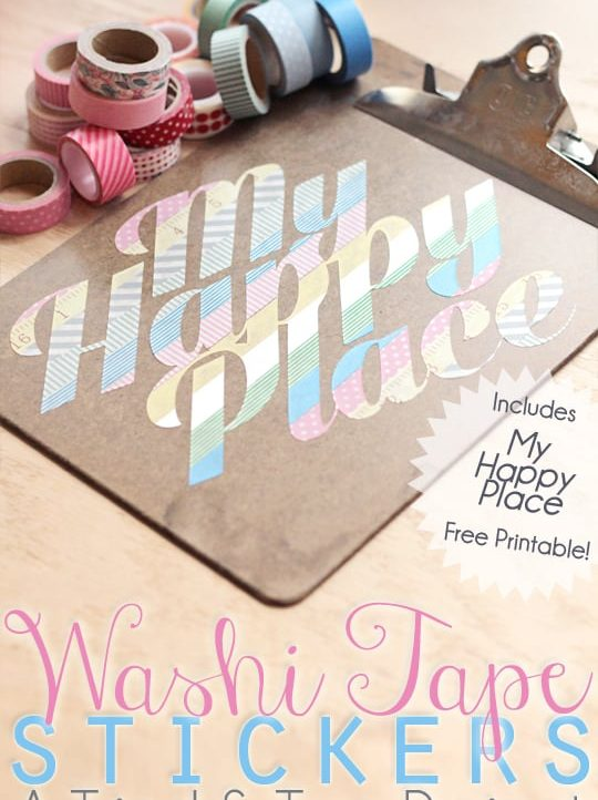Turn your beautiful washi tape into art with this free tutorial!