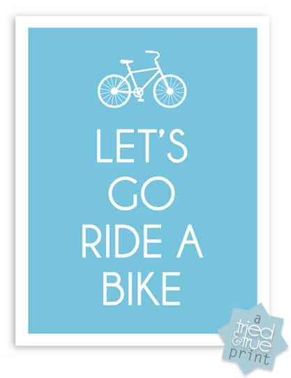 Bicycling Free Printables - Let's Go Ride A Bike