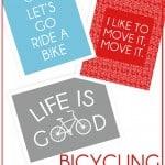 Bicycling Free Printables