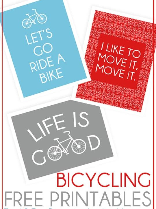 Are you a bike lover? You're going to love these free Bicycling Printables then!