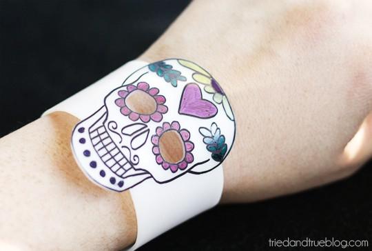 Day of the Dead Shrink Plastic Jewelry - Bracelet
