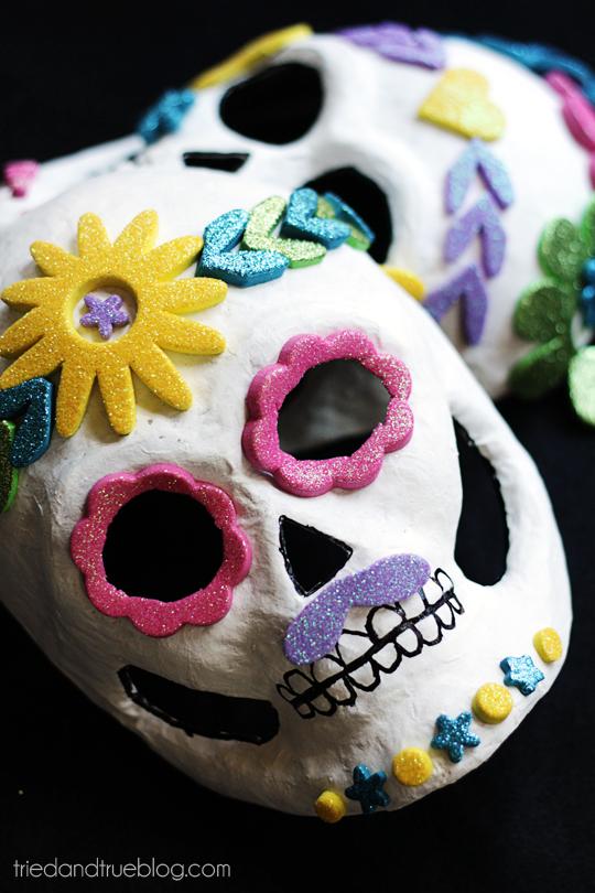 Dia de los Muertos Masks - Close Up
