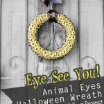Animal Eyes Halloween Wreath