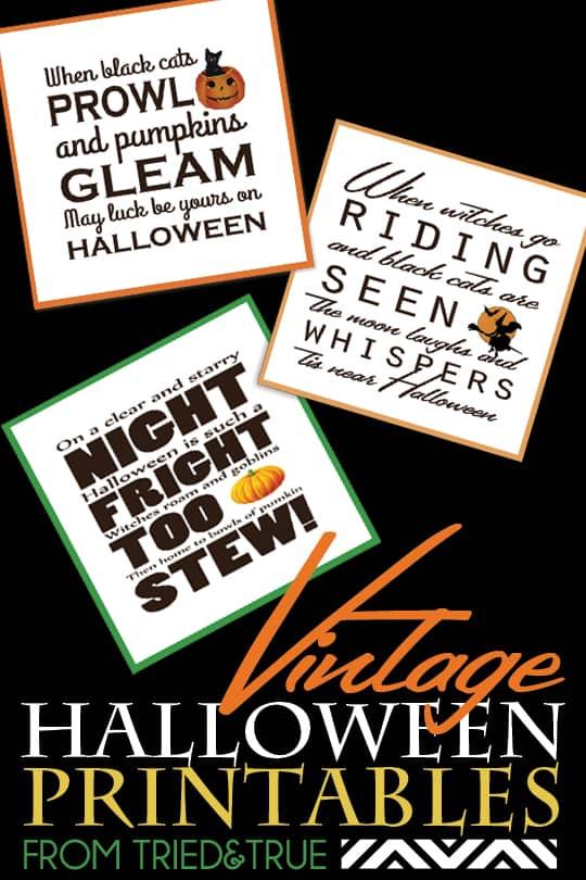 Vintage Halloween Printables - From Tried & True