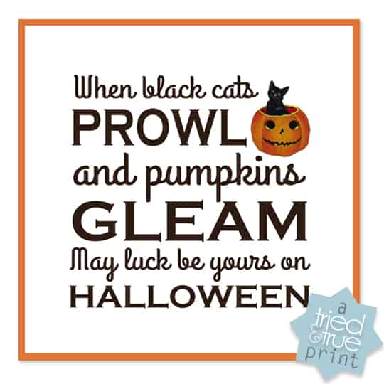 Vintage Halloween Printables - Prowling Cats