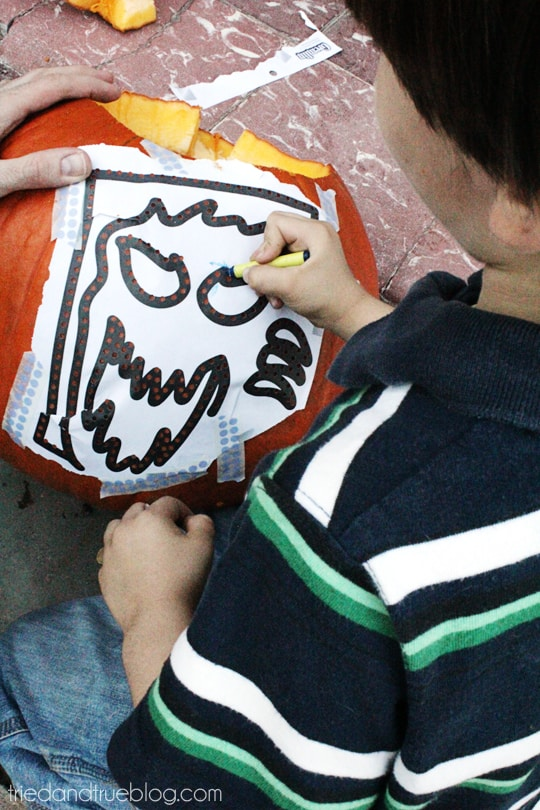 Pumpkin Carving Party - Easy to transfer image!