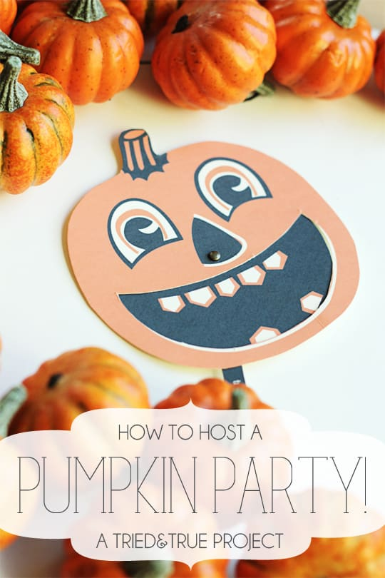 Pumpkin Carving Party - Free Invites from Tried & True