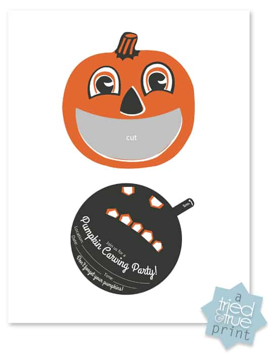 Pumpkin Carving Party - Free printable invite!