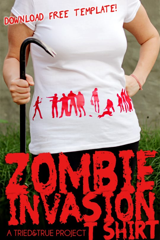 Zombie Invasion Tee - Free Zombie Template from Tried & True