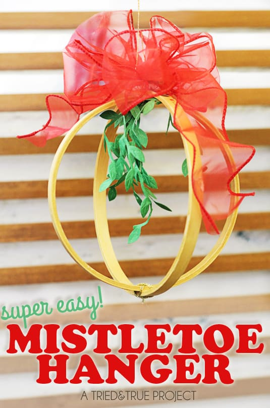 Christmas Mistletoe Hanger with Bowdabra - A Tried & True Project