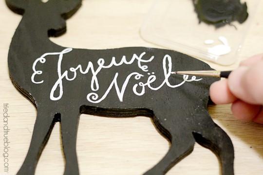 Reversible Faux Chalk Deer Decor - Paint letters