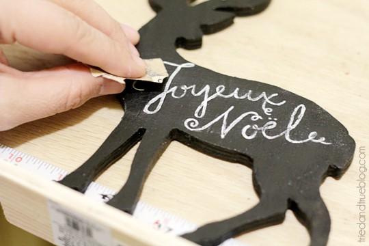 Reversible Faux Chalk Deer Decor - Sandpaper
