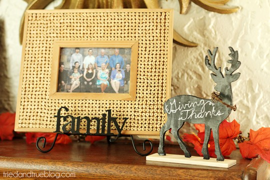 Reversible Faux Chalk Deer Decor - Use first for Thanksgiving!