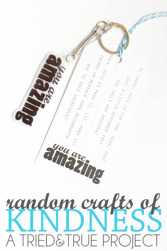 Reminding people how amazing they are with a Random Craft of Kindness!!