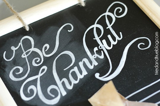 Be Thankful Gratitude Calendar - Sandpaper