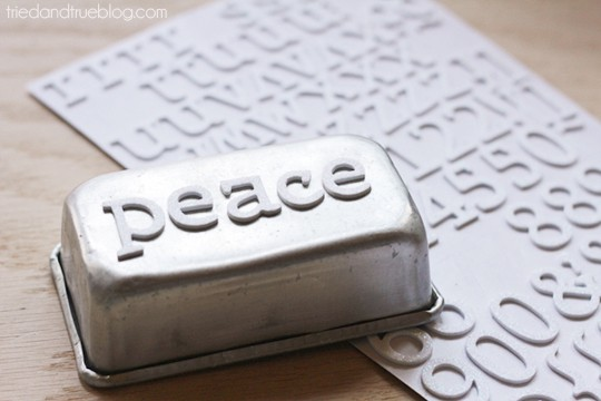 Customized Butter Mold - Position letters