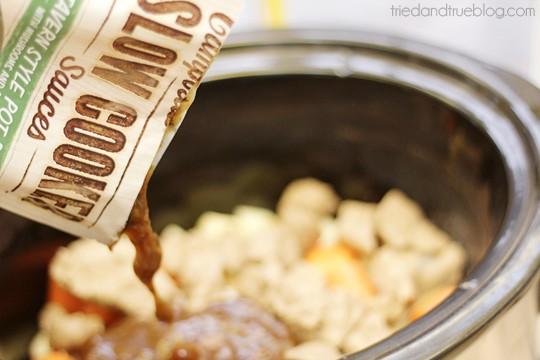Vegetarian Slow Cooker Pot Roast with Campbell's Slow Cooker Sauce #CampbellsSkilledSaucers