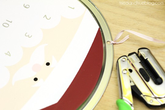 Santa's Christmas Countdown - Punch holes