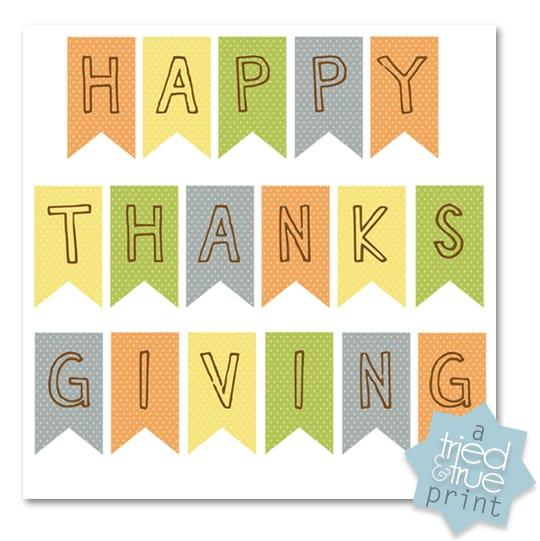 Thanksgiving Table Settings Free Printables - Pennant Banner