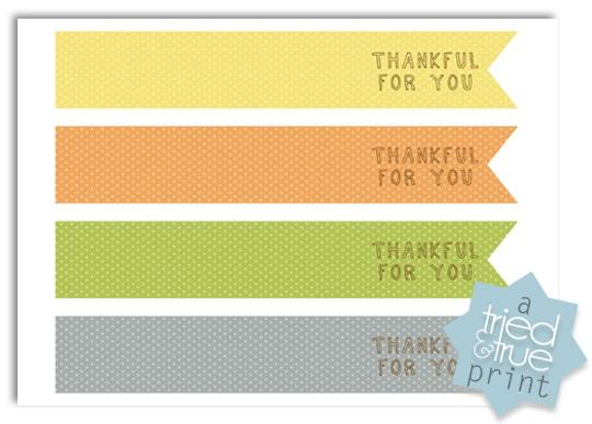 Thanksgiving Table Settings Free Printables - Utensil Wraps