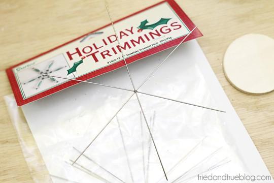 Homemade Birdcage Ornament - Supplies