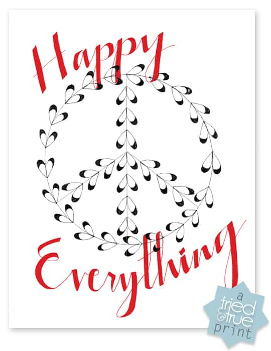 Happy Everything Gift Wrap and Tags Free Printables - Wall Art