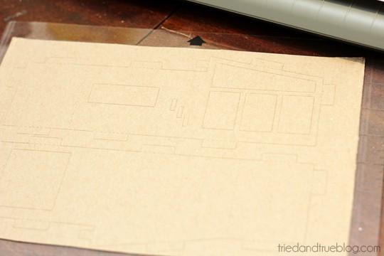 Miniature Mid-Century Modern Models - Cut cardboard
