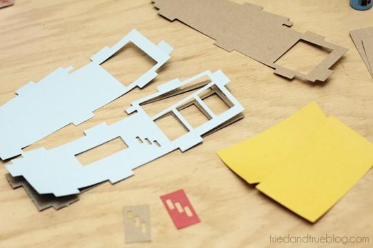 Miniature Mid-Century Modern Models - Cut paper