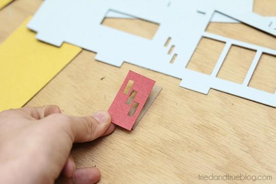 Miniature Mid-Century Modern Models - Adhere pieces