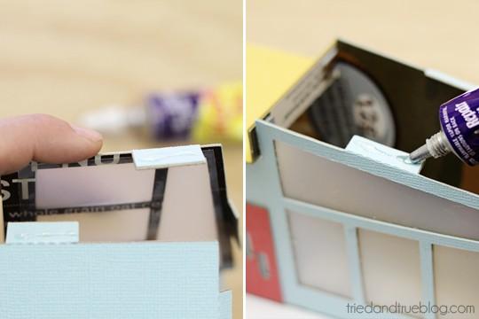 Miniature Mid-Century Modern Models - Glue tabs