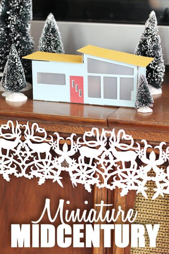 Miniature Mid-Century Modern House