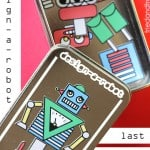 Use your Silhouette to make a last-minute Robot Tin Stocking Stuffer!