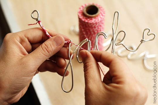 Personalized Wire Ornaments - Wrap