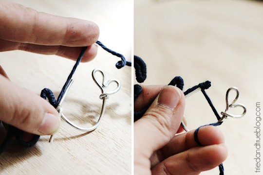 Personalized Wire Ornaments - More twine