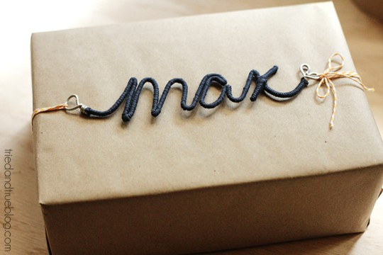 Personalized Wire Ornaments - Gift Wrap