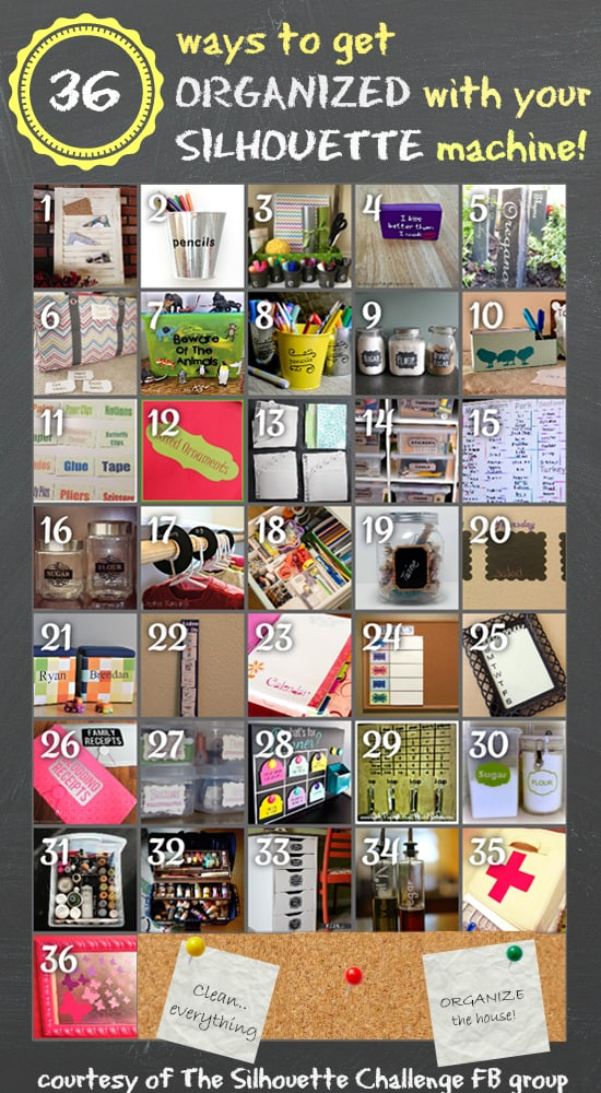 Get organized with your Silhouette Machine!
