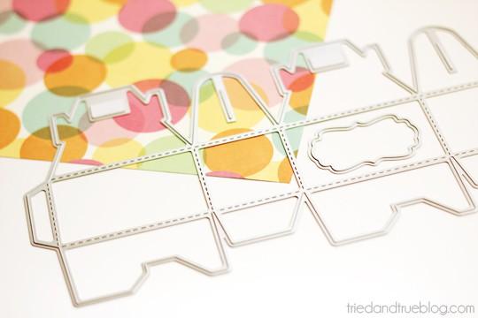 Valentine's Day Macaron Gift Box - Die Cut