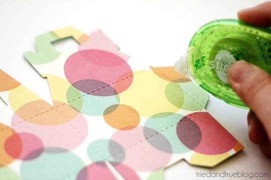 Valentine's Day Macaron Gift Box - Tape