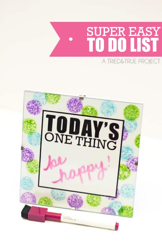 Super Easy To Do List - A Tried & True Project