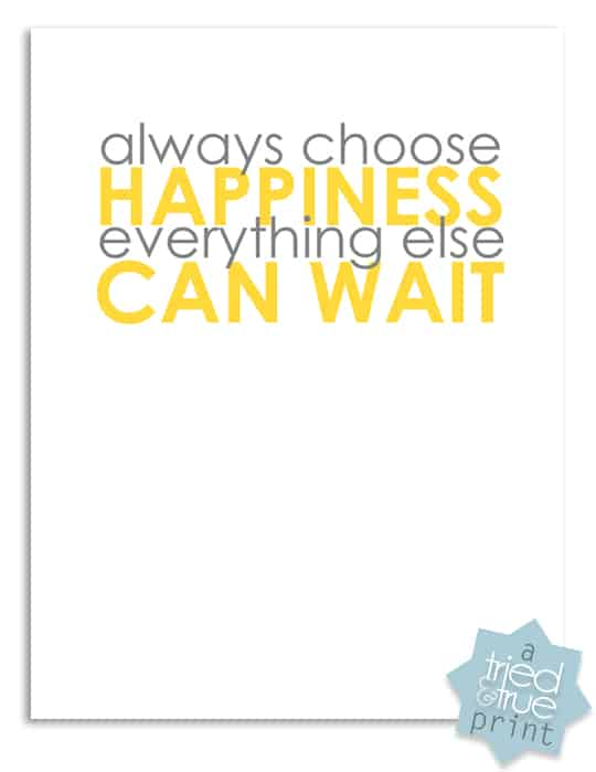 Resolutions Free Printables from Tried & True - Choose Happiness