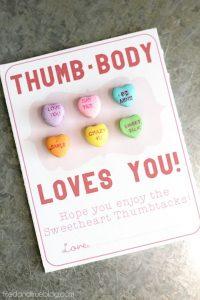 """Thumb-body Loves You!"" Sweetheart Thumbtacks Valentine - Final"