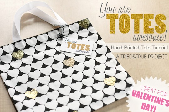 Valentine's Day Tote Bag Tutorial & Printable
