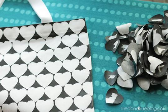 Valentine's Day Tote Bag & Printable - Remove