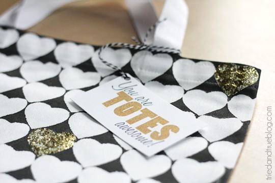 Valentine's Day Tote Bag & Printable - Tag