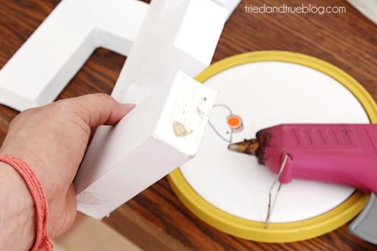 Paper Mache Alphabet Wall Art - Glue