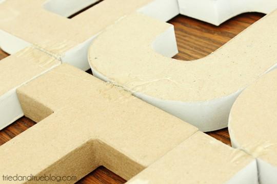 Paper Mache Alphabet Wall Art - Reinforce