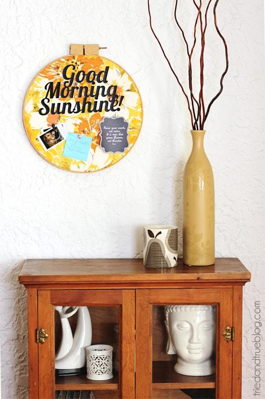 Vintage Fabric Memo Board - Organize in style!
