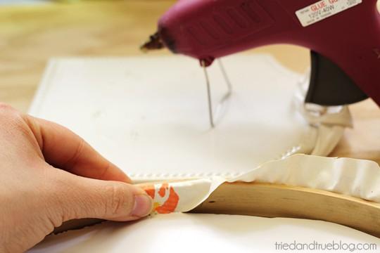 Vintage Fabric Memo Board - Glue