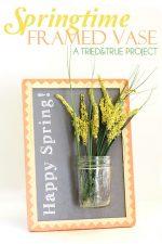 """Happy Spring"" Framed Vase"